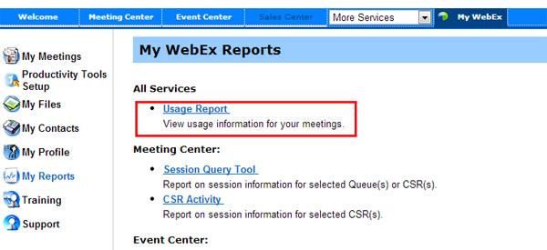 Webex Meeting Api